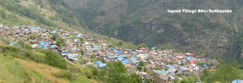 Laprak Village After Earthquake